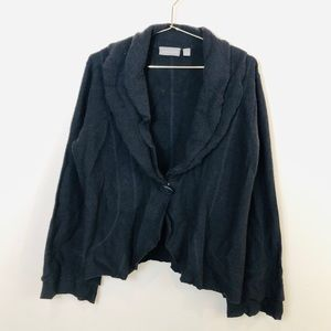 Croft & Barrow XL Gray wool ruffled Cardigan